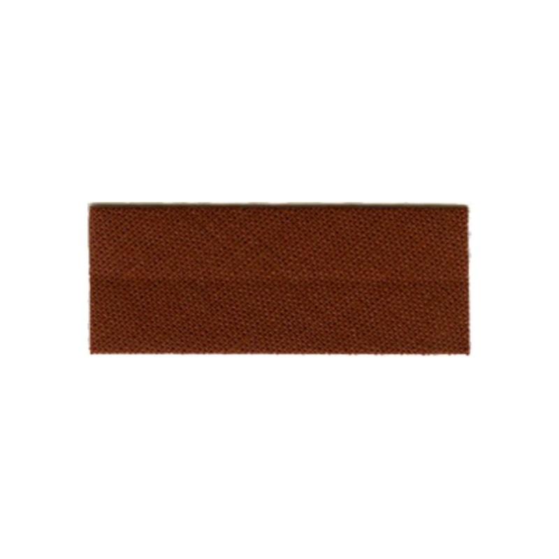 biais polycoton - marron
