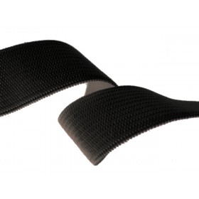 Élastique souple 20 mm noir