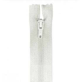 Cremallera 18 cm blanco sin separador