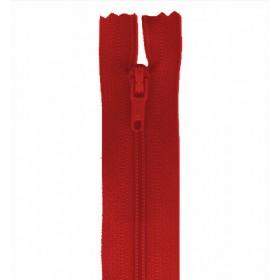 Cremallera 18 cm rojo sin separador