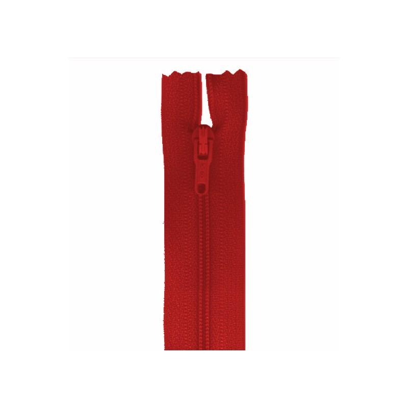 Fermeture 18 cm non séparable rouge