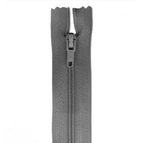 Cremallera 18 cm gris sin separador