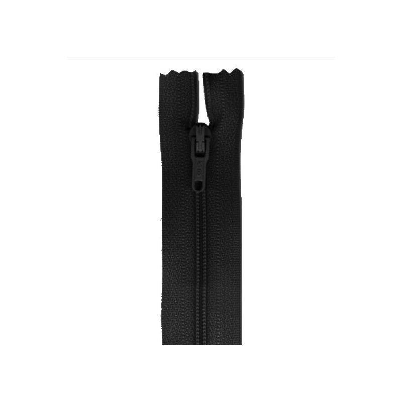 Fermeture 60 cm non séparable noir