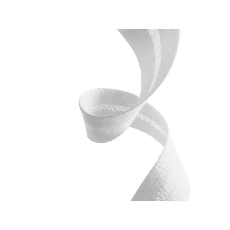 biais polycoton blanc en vente au mètre