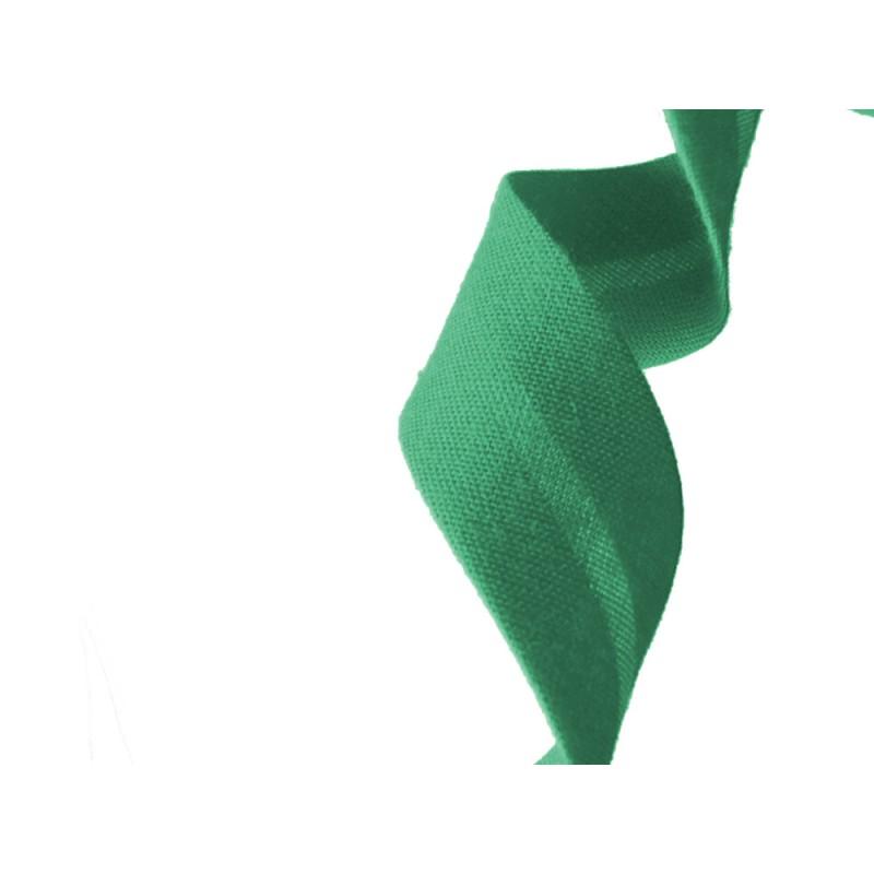 biais polycoton vert au mètre