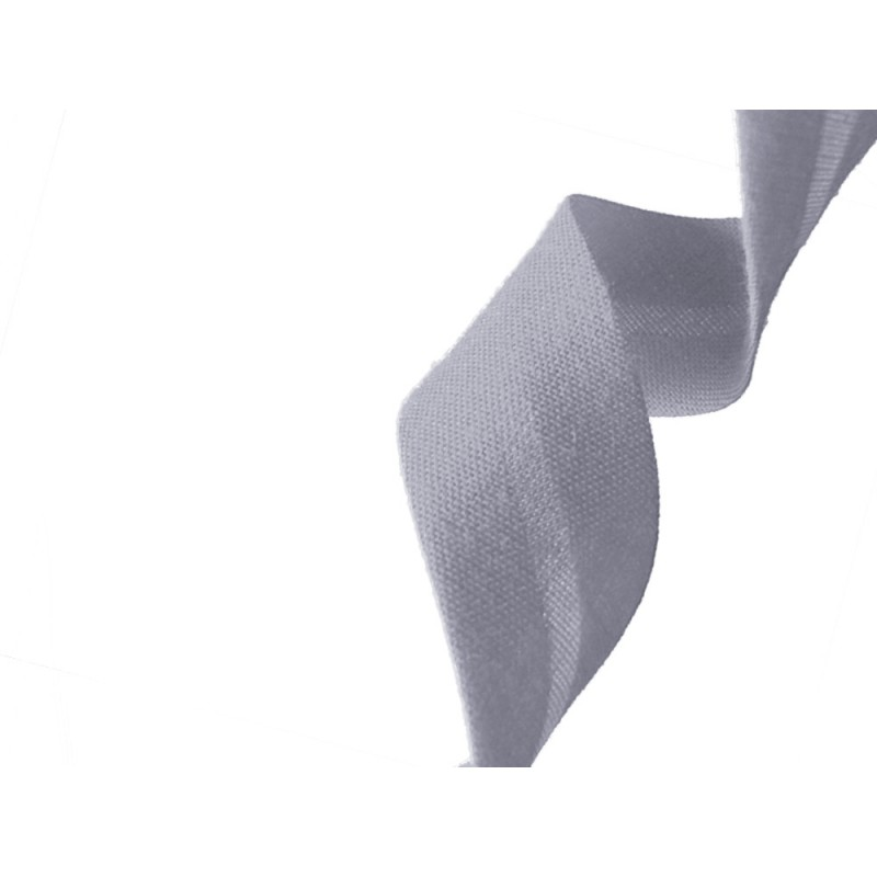 biais polycoton gris au mètre