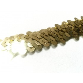 ruban élastique paillettes or au mètre
