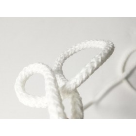 Cordon tressé 4 mm - blanc