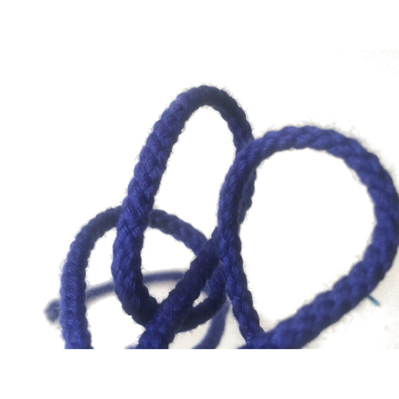 Cordon tressé 4 mm - bleu