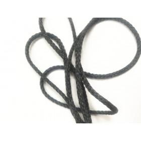 Cordon tressé 4 mm - gris