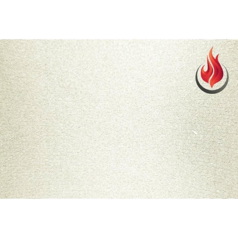 Lycra® brillant non-feu M1 blanc au mètre