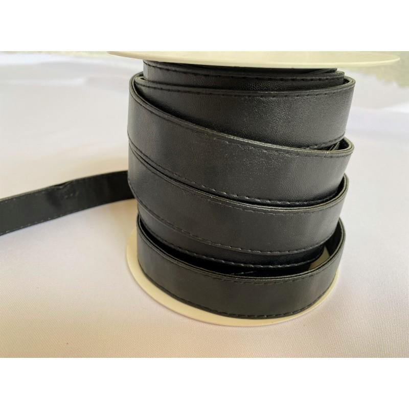 Sangle Similicuir 25 mm Noire