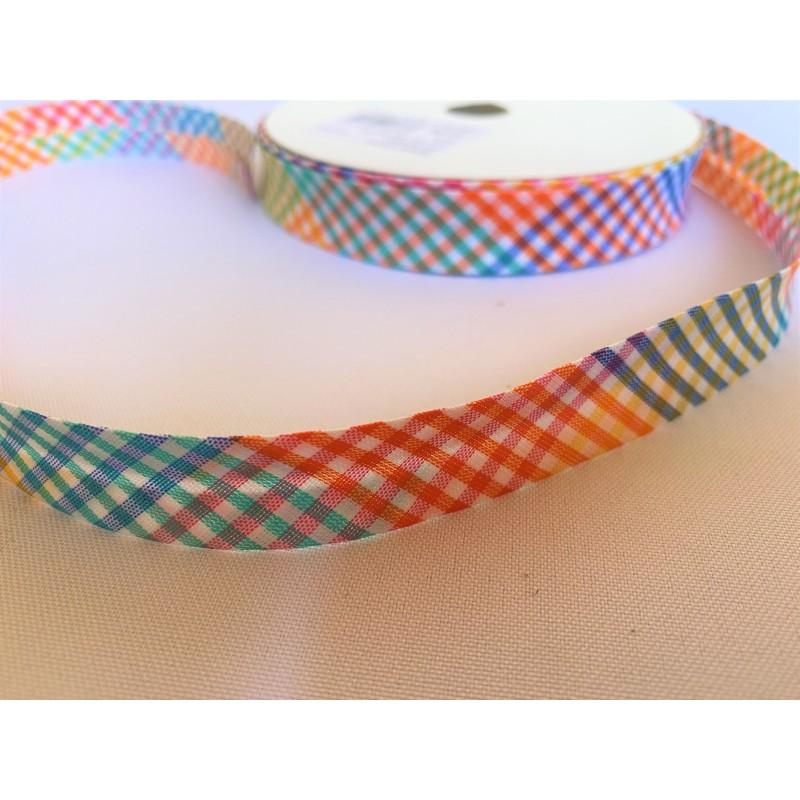 biais vichy multicolore
