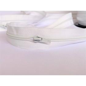 Fermeture blancheavec curseur intégré
