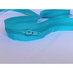 Fermeture turquoiseavec curseur intégré