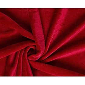 velours stretch rouge