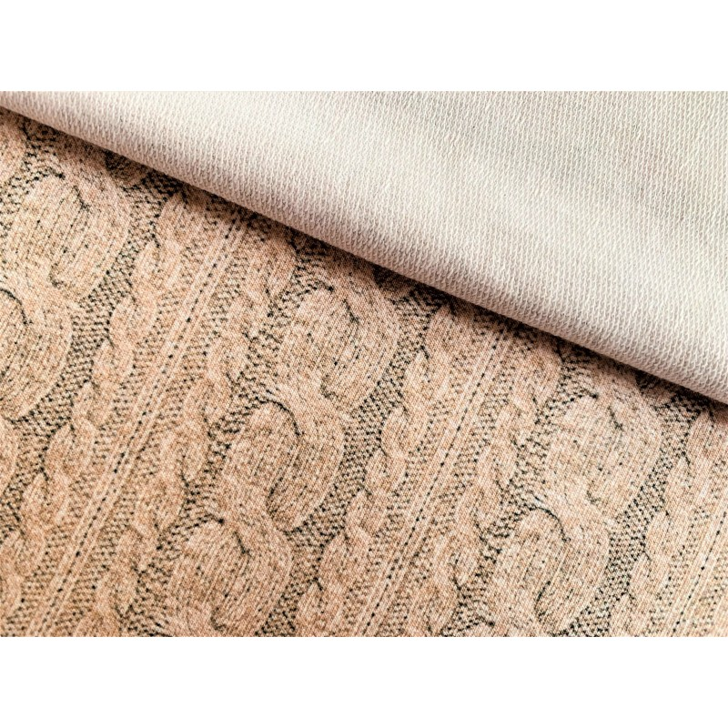 French Terry torsade beige
