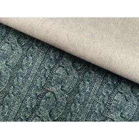 French Terry torsade taupe