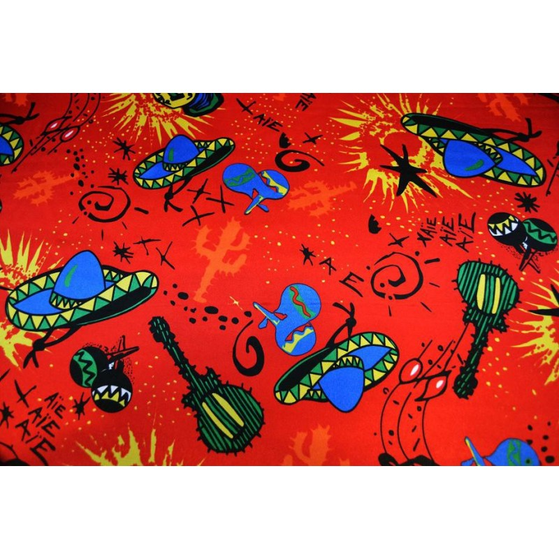 Satin carnaval mexico fond rouge